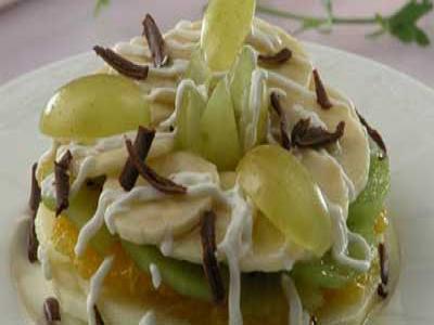 Салат из тыквы и киви в карамели