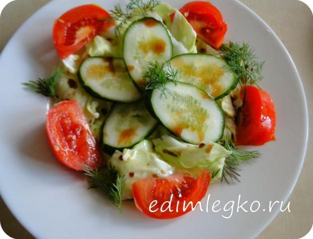 Стройный овощной салатик