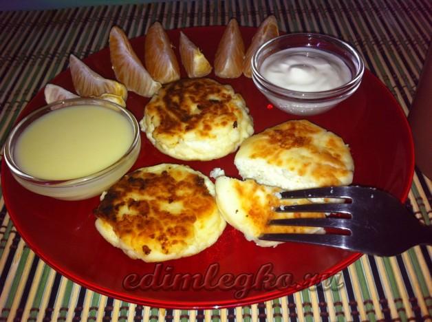 Вкусные сырники пошаговое фото