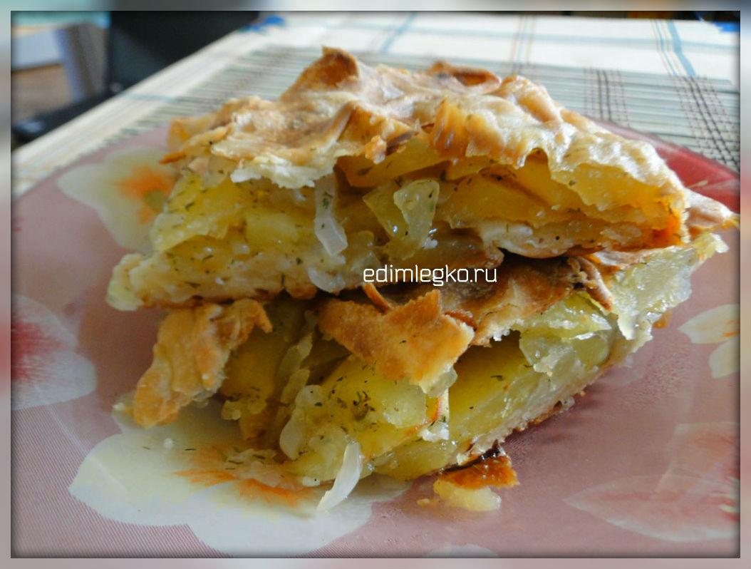 Вкусный пирог с картошкой