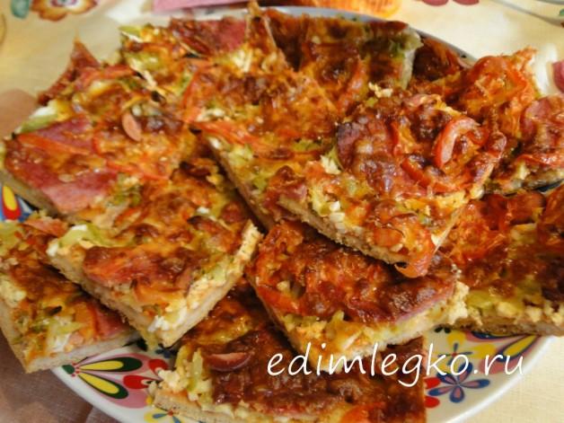 Пицца домашняя «На всех хватит»